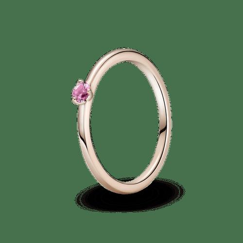 Anillo Solitario rosa Pandora Rose