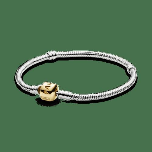 Brazalete cadena de serpiente Pandora Moments Dos Tonos