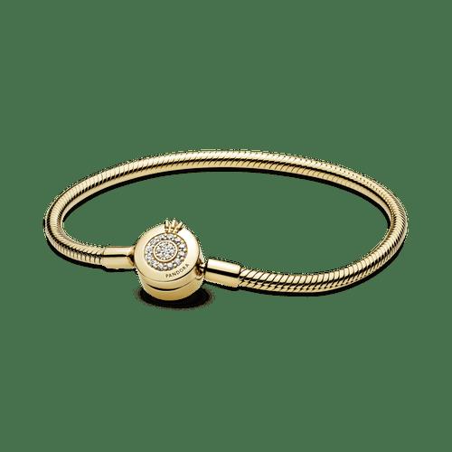 Brazalete Pandora Moments cadena de serpiente Corona O resplandeciente Shine