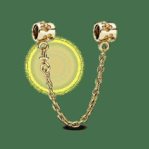Cadena de seguridad Flor de espino Oro 14k