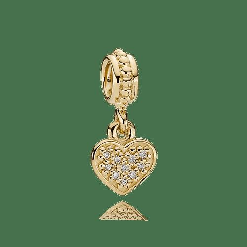 Charm colgante de oro colgante corazón