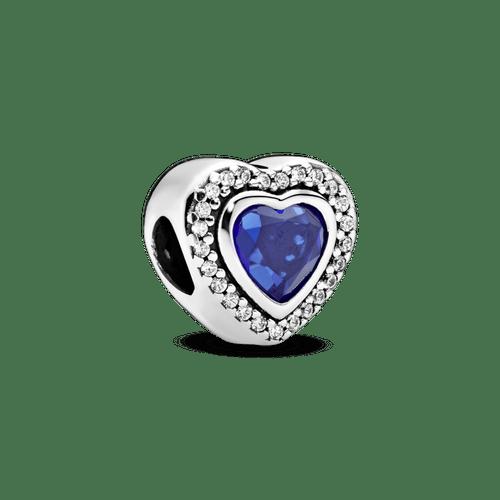 Charm Corazón azul resplandeciente