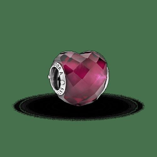Charm Corazón Rosa fucsia
