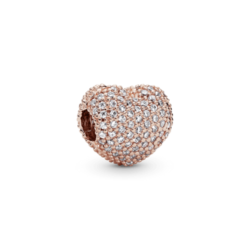 Charm Sujetador Corazón de pavé Pandora Rose