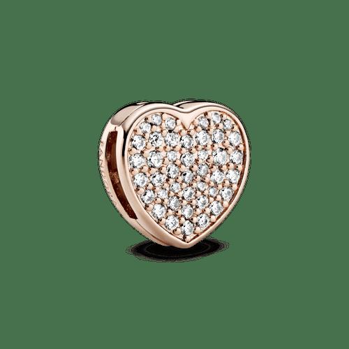 Charm Sujetador Corazón de pavé Pandora Rose Reflexions
