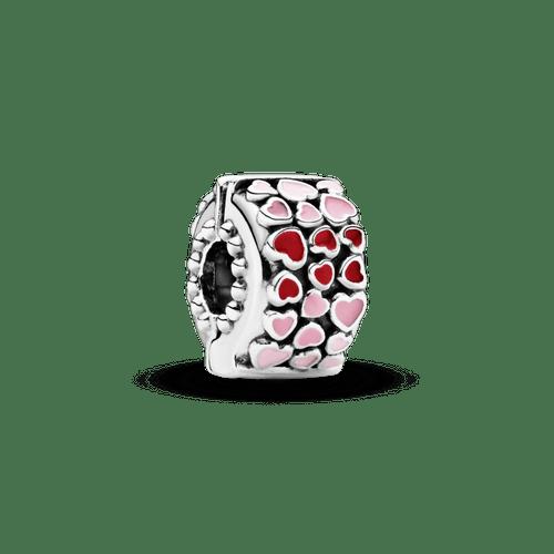 Charm Sujetador Corazones rojo y rosa