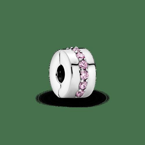 Charm Sujetador Hilera rosada reluciente