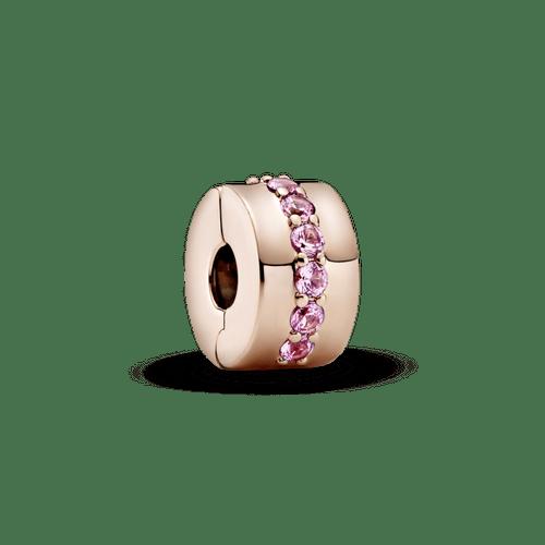 Charm Sujetador Hilera rosada reluciente Pandora Rose