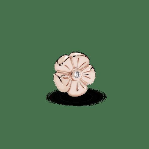 Pequeño Elemento para medallón Flor clásica Pandora Rose