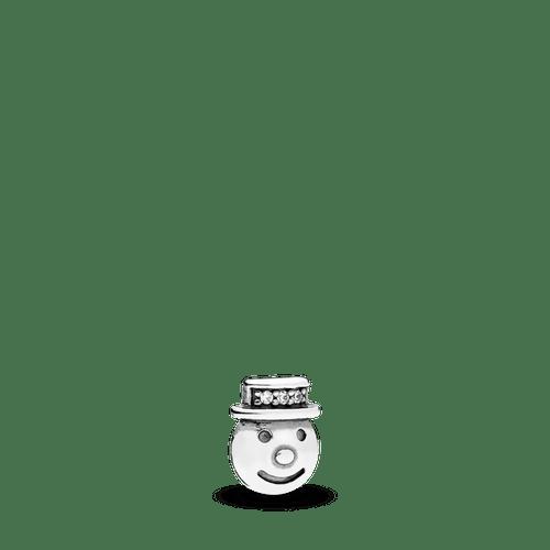 Pequeño Elemento Para Medallón Hombre De Nieve Feliz