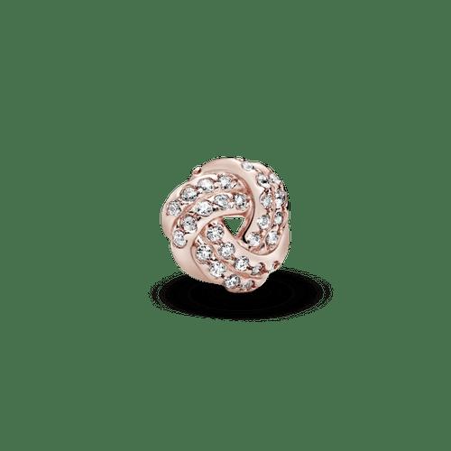 Pequeño Elemento Para Medallón Nudo Reluciente Pandora Rose