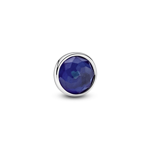 Pequeño Elemento Para Medallón Piedra Natal Azul Septiembre