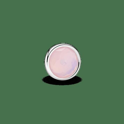 Pequeño Elemento Para Medallón Piedra Natal Rosa Octubre