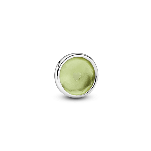 Pequeño elemento para medallón piedra natal verde - Agosto