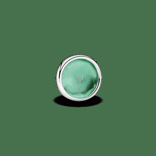 Pequeño Elemento Para Medallón Piedra Natal Verde Real Mayo