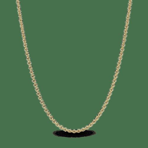 Collar cadena de cable clásico Oro 14K