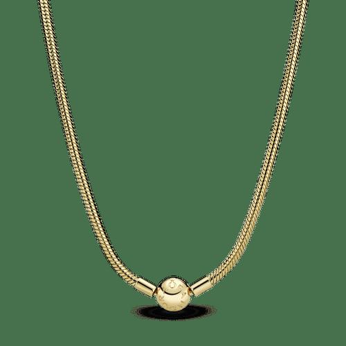 Collar cadena de serpiente Pandora Moments Oro 14K