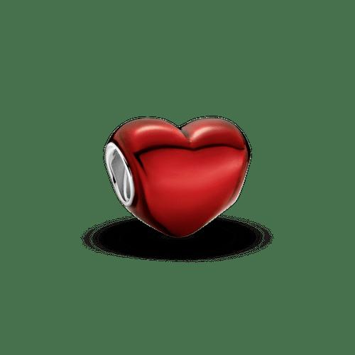 Charm Corazón metálico rojo