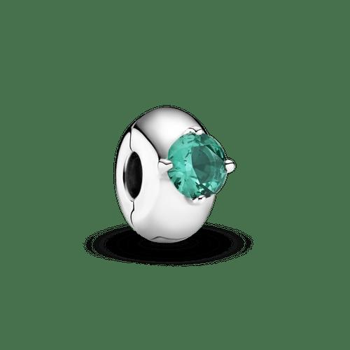 Clip Sujetador Solitario redondo verde