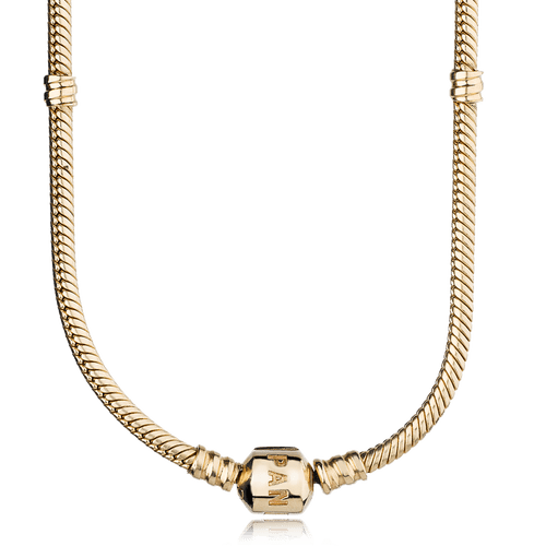 Collar moments con broche en oro 14K