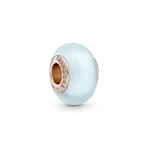 Charm De Cristal Murano Azul Mate Pandora Rose