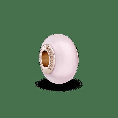 Charm De Cristal Murano Rosa Mate Pandora Rose