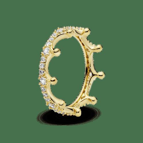 Anillo Corona deslumbrante transparente Pandora Shine