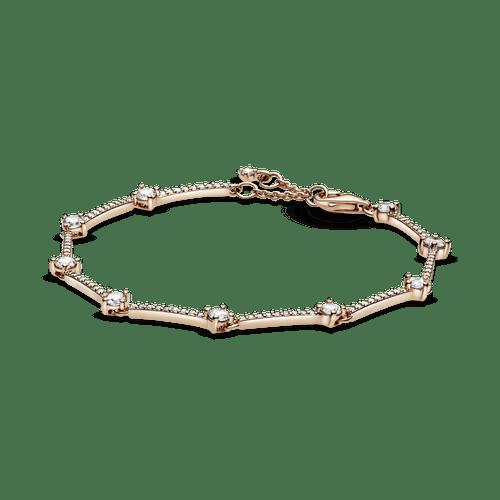 Brazalete Pandora Rose de barras con pavé brillante