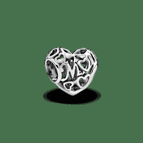 Charm calado Corazón de mamá