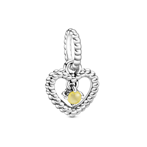 Charm colgante Corazón de abalorio de miel