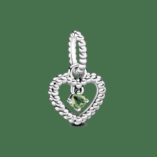 Charm colgante Corazón de abalorio verde primavera