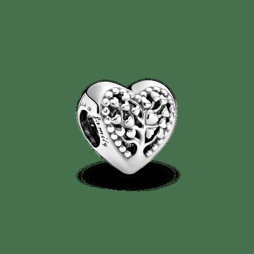 Charm Corazón con árbol de familia