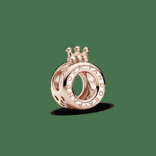 Charm Corona O con logotipo Pandora Rose