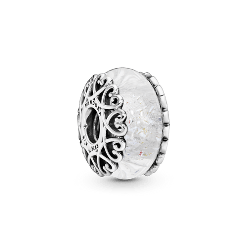 Charm de cristal Murano iridiscente