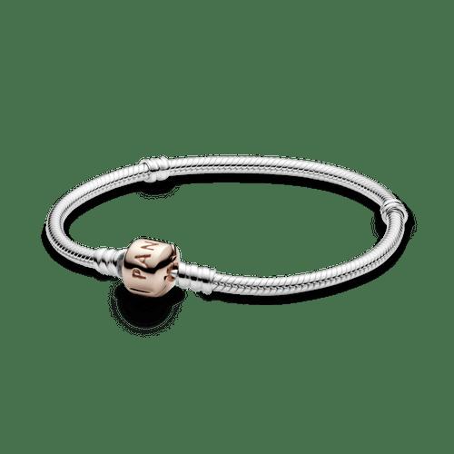 Brazalete cadena de serpiente cierre Pandora Moments Rose