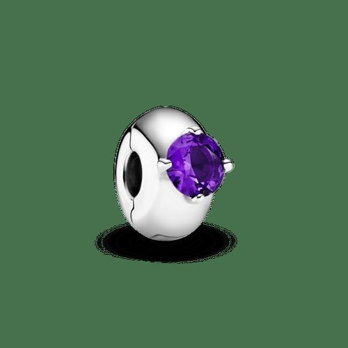 Clip Sujetador Solitario redondo morado