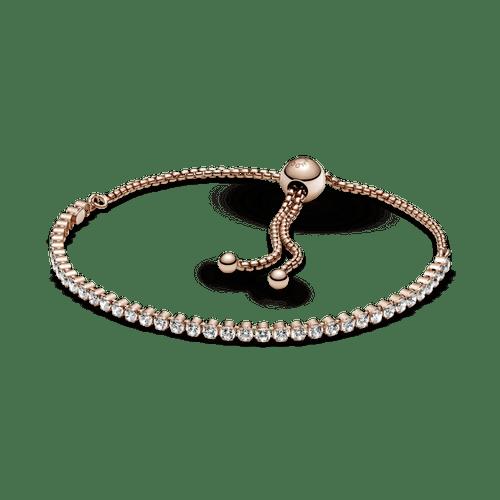 Brazalete De Tenis Deslizante Brillante Pandora Rose