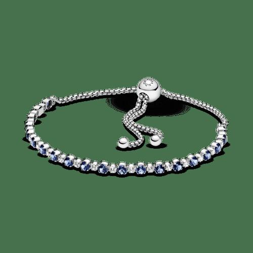 Brazalete DeslizanteBrillo Cristal Azul Y Transparente