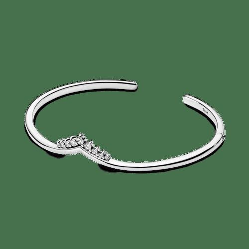 Brazalete abierto Hueso de los deseos con tiara