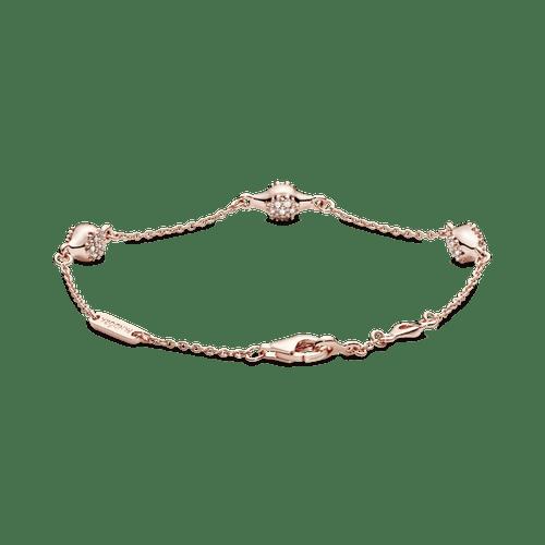 Brazalete Pandora Rose Cápsulas de amor modernas de pavé