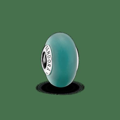 Charm Verde Mate De Cristal Murano