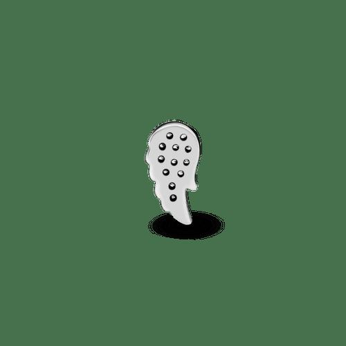 Pequeño Elemento Para Medallón Ala De Ángel De Pavé