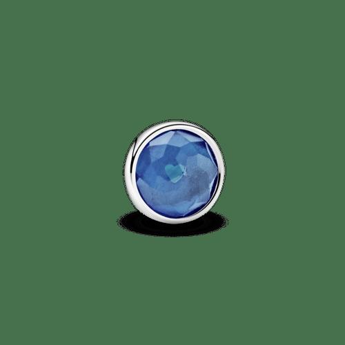Pequeño Elemento Para Medallón Piedra Natal Azul London Diciembre