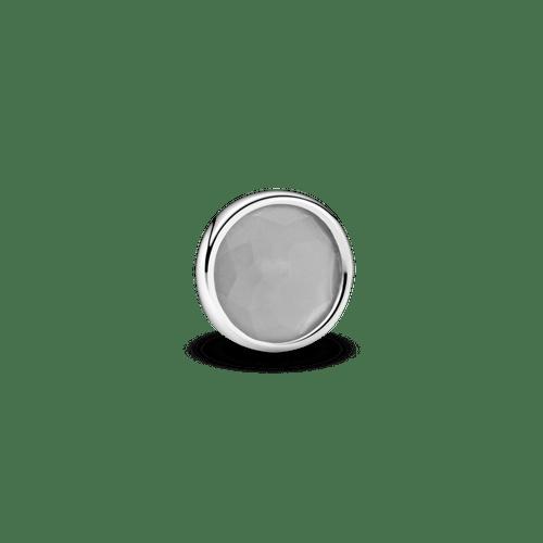 Pequeño elemento para medallón piedra natal gris - Junio