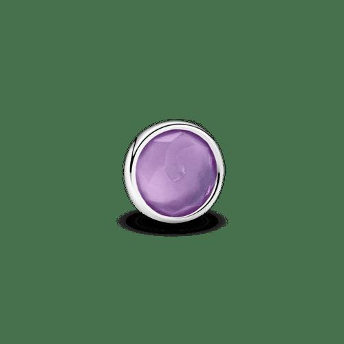 Pequeño Elemento Para Medallón Piedra Natal Morada Febrero
