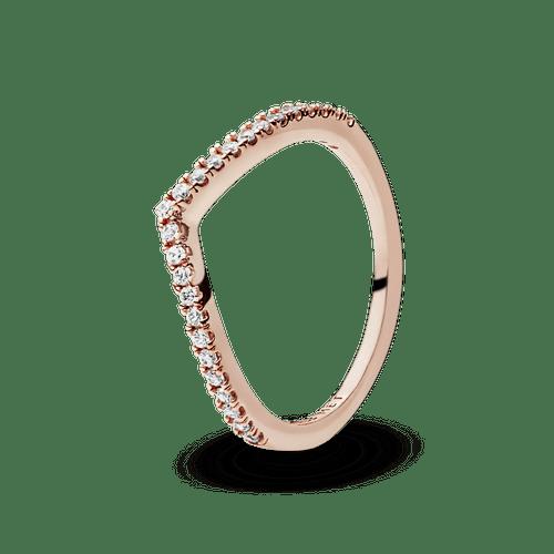 Anillo Deseos Brillantes Recubrimiento en Oro Rosa de 14k