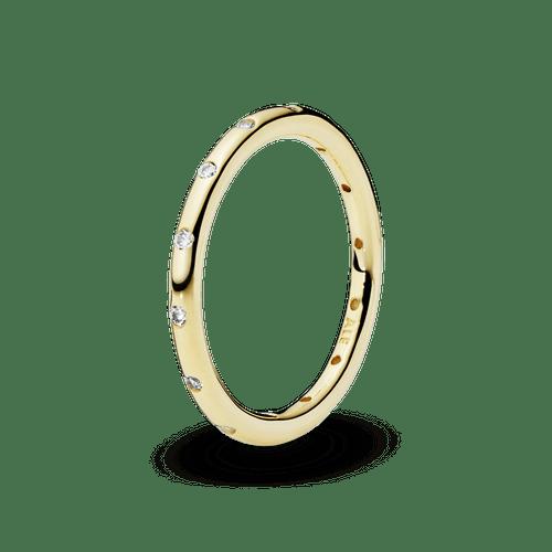 Anillo Oro 14K sencillo reluciente