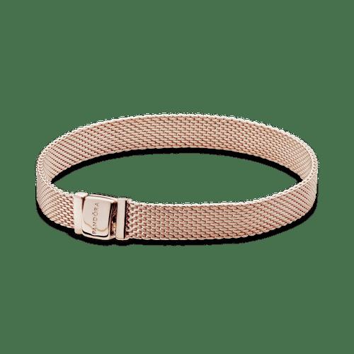 Brazalete de malla Pandora Reflexions en Recubrimiento en Oro Rosa de 14k