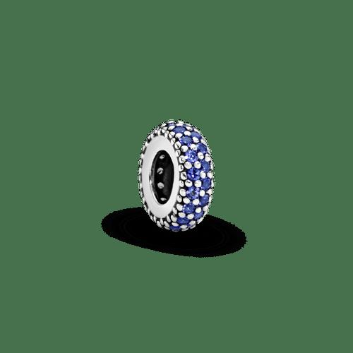 Charm Espaciador Brillo azul