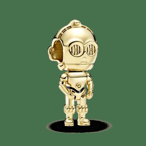 Charm Star Wars C-3PO Recubrimiento en Oro de 14k